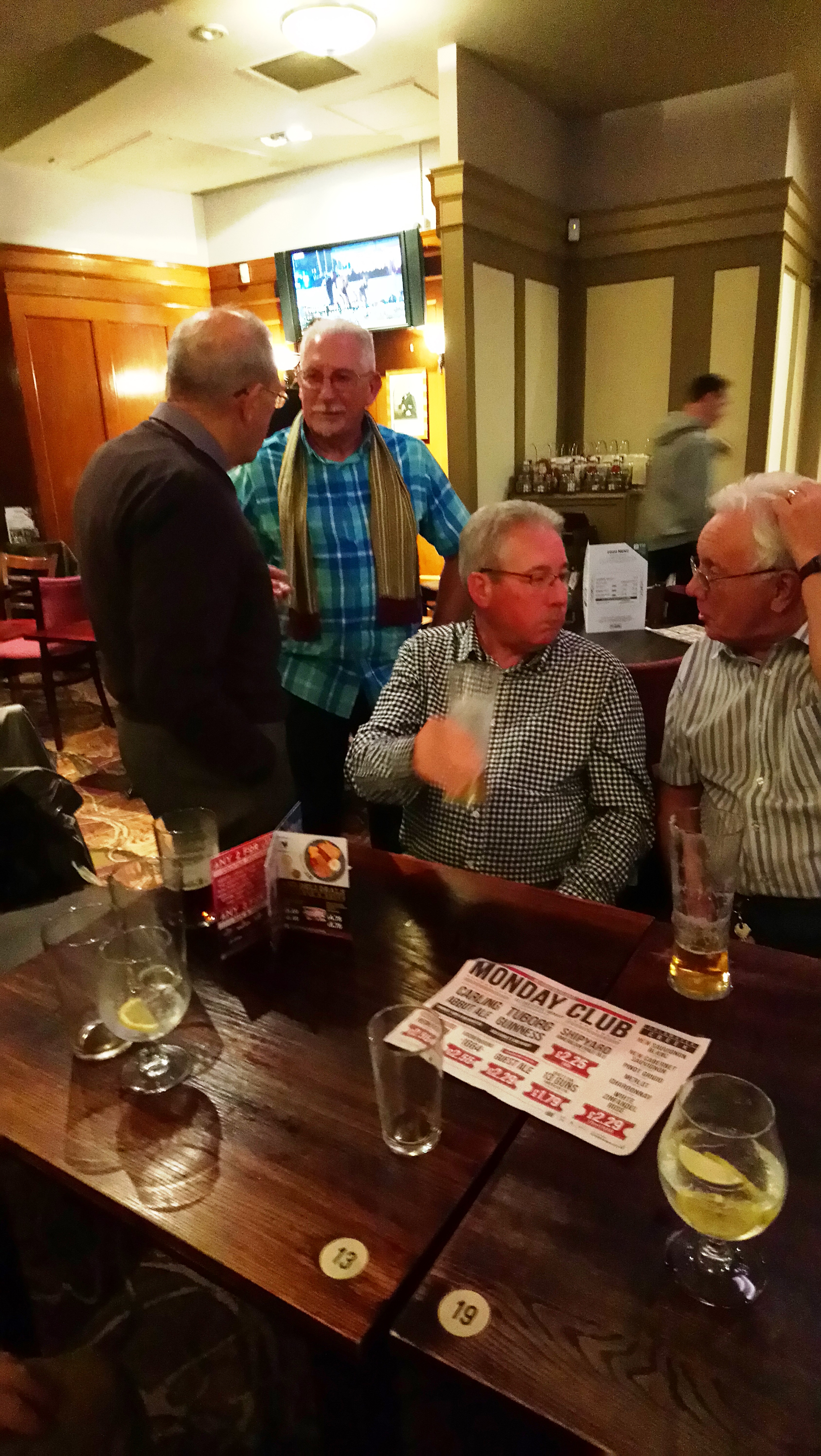 Ernie Coggins,Peter Smith FHQ, Alan Robinson & Asa Sault.-2nd October 2017.
